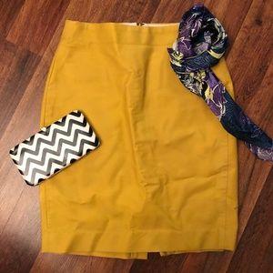 JCREW Yellow No.2 Pencil Skirt